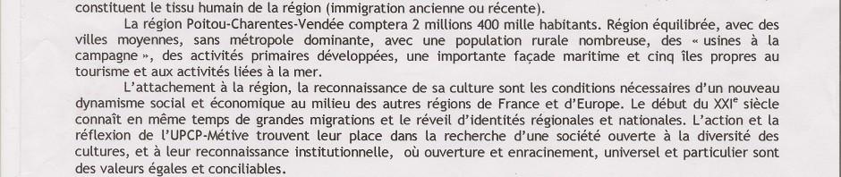 motion upcp pour région Poitou-Charentes-Vendée